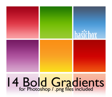BB Set 1 Bold Gradients by kiaharii