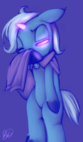 The cute and sad Trixie by PonySocialExperiment