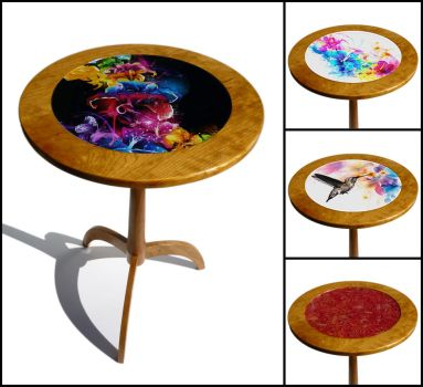 Interchangeable Table Top Table by dizzyflower28
