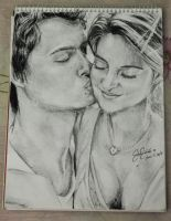 Sketch: Augustus Waters and Hazel Grace Lancaster by reiko-akire