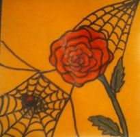 Rose With Spider by EternalArtGirl740