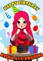 Happy Birthday Risha by aitohana