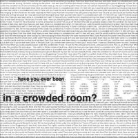 Alone in a Crowded Room by EdwardSnorted