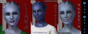 2 Blue Babies for Liara by SuperMeja