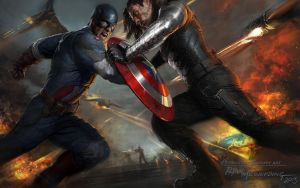 Captain-America-The-Winter-Soldier-Artwork by Just-aHeroOfJustice