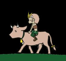 Corry Akamai Cow Ride by BARD-Of-RAGE96