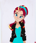 Sunset Shimmer - Ponytail by aJVL