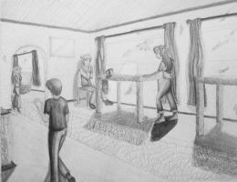 Interior with people, in 2pt by Yukiko-chan