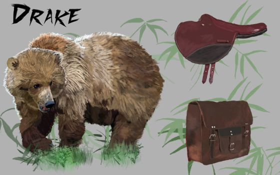 Grizzly Bear Concept Art by GatherMyMelon