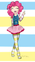 Humanized Pinkie Pie! by royalppurpl3