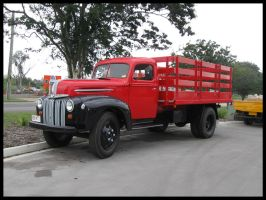 1942 Ford truck outside by RedtailFox