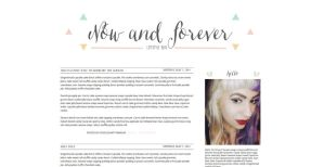 Now and Forever Blogger Template by tiny-moon