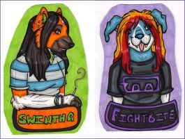 Swintha and Paula Badges by silverwing