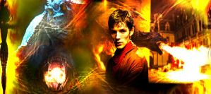 Merlin and the great dragon by TwilightxGirl