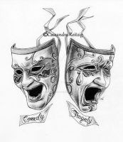 Comedy Tragedy Tattoo by CassandraReitzig