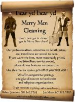 Merry Men Cleaning flier by celticpath
