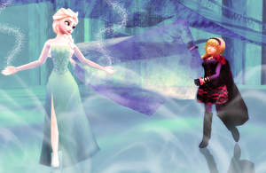 Playing with Elsa's Cape by Dramakid99