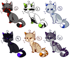 Feline Auction Adoptables -CLOSED- by Olivvin-Adopts