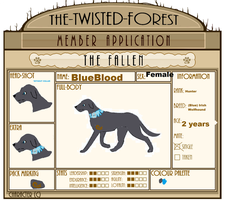 TTF - BlueBlood - (Blue) Irish Wolfhound 2.0 by X-marblehornets-x