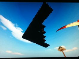FortressCraft: Stealth Bomber2 by Plazma-Reaper