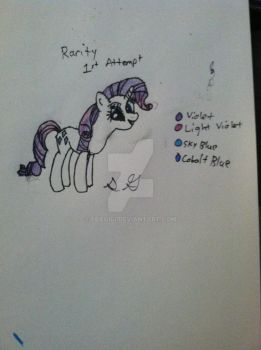 Rarity 1st Attempt by Gabe9988