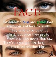 Fact: People with Blue and Green Eyes by twihardBreakingDawn
