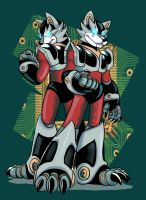 reploid wolf bros by wolfboi1