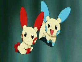 Plusle and Minun by jud-jee