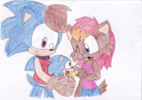 Jules, Sonic and Golosh by LeniProduction