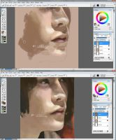 Practicing with Corel Painter by Kyunai