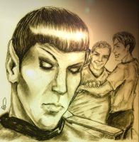 Spock Watching by shazam26