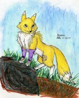 Semi-realistic Renamon by Mykoto