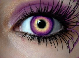 purple yellow eye by SweetDream93