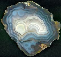 Blue and White Agate Mexico by paleoichneum