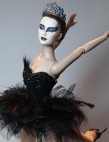 Black Swan Doll Repaint by ShannonCraven