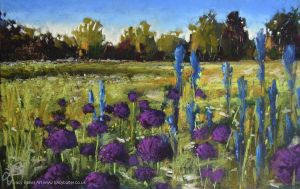 Allium Meadow by tracybutlerart