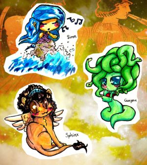 Greek mythological creatures chibi's 1
