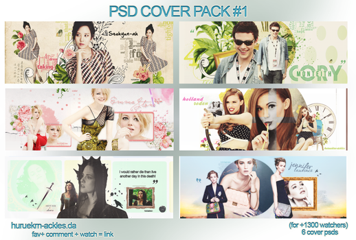 PSD Cover Pack #1 by huruekrn-ackles