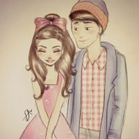 Ariana Grande and JaiBrooks by DebbyArts