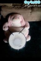 Pink Bunny Drummer by Cy4ntic
