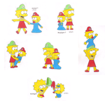 Lisa and Maggie Artworks by MarioSimpson1