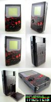 Custom Painted Gameboy Black by Thretris