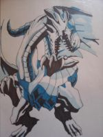 Blue-Eyes White Dragon by TheWolfInMe