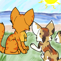 Fireheart and Spottedleaf by Koushalu
