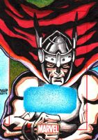 Marvel 75th Anniversary - THOR sketch card by JASONS21