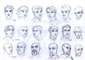 Mass Effect - Character Studies by NessunoY59