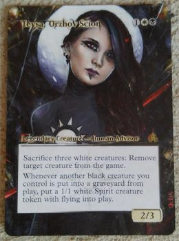 Magic the Gathering alter: Teysa, Orzhov Zion by Ondal-the-Fool