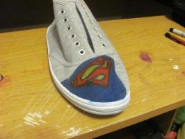 Superman Shoe WIP by KalibHime