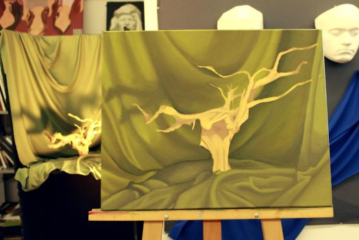 WIP - The branch - Day 4 by DemieLune