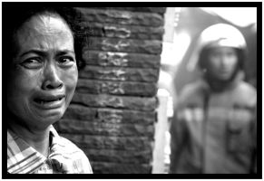 crying behind the struggle by Awan-putih